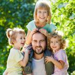 tata z dziećmi - szanujemy czas rodziców