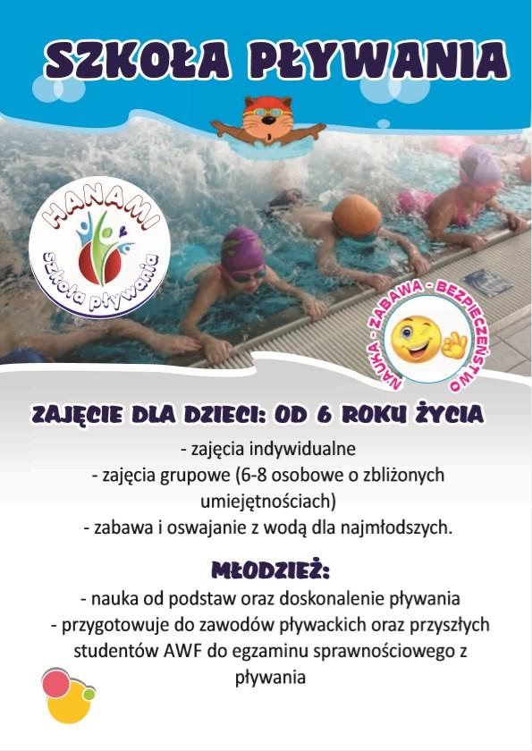 Nauka pływania dla dzieci Bydgoszcz ulotka